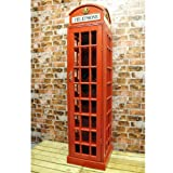 Red Telephone Box Wine Cabinet Very Large
