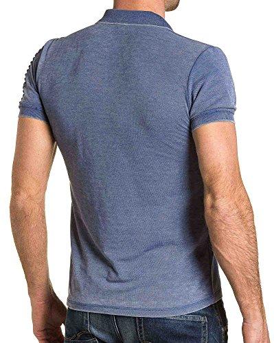 BLZ jeans - Polo Mann verblasst lila gerippt Trend Violett