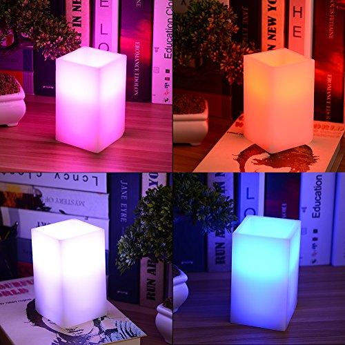8 Lampe Vanity Licht (Lanlan Paraffin Body Echtwachs Kerze Lampe 12Farben mit 18Schlüssel Fernbedienung und 4Stunden oder 8Stunden Timer Funktion 12,7cm hoch LED Flammenlose Stumpenkerze Lichter)