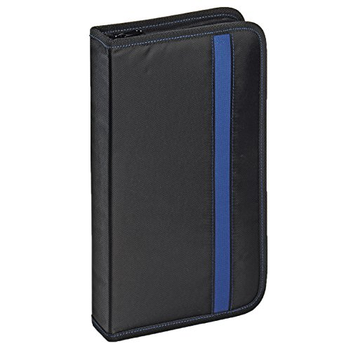 Vivanco CD/DVD-Tasche Nylon, Blue-ray Case, Wallet, Ordner für 48 CDs schwarz-blau Nylon-cd / Dvd Wallet