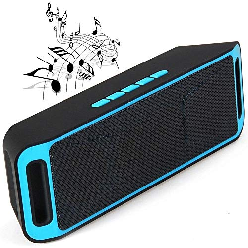 Rewy WC-208 Portable Wireless Bass Sound Bluetooth Speaker with FM   AUX/SD & USB Card Slot Compatible with All Mobile Phones,iOS & Windows Device (Assorted Colour)