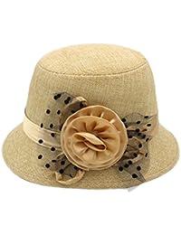 Sombrero Femenino Primavera y el Verano Más Tapa de mamá Primavera Casual  con Sombrero Niño del Verano Las Flores del Sombrero del Sol… c97822677c8
