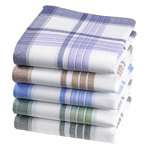 Mouchoirs 5 couleurs