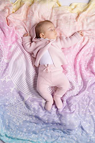 KOKADI kuschelige und weiche BabyDecke Marie im Wunderland aus 100{c66478d8cded4bfb11673bbdf2c7a63c8a53006484dd0337712ab2010f0b7e0c} Bio-Rohstoffen ✓ ideal für Neugeborene