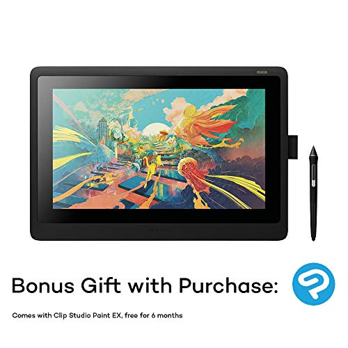 Wacom Cintiq 16 Kreativ-Stift-Display Tablet - (zum Skizzieren, Illustrieren und Zeichnen direkt auf dem Bildschirm, mit Full-HD-Display (1.920 x 1.080), kompatibel mit Windows und Mac)