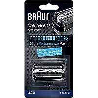 Braun Pièce de Rechange 32B Noire pour Rasoir Compatible avec les Rasoirs Series 3