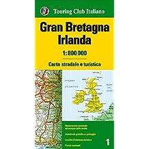 Gran Bretagna e Irlanda 1:800.000. Carta stradale e turistica. Ediz. multilingue