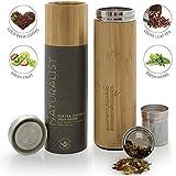 Teabloom Bottiglia Termica Multiuso - Ampia Capacità 0,5 L - Thermos da Viaggio - Bambù Ecosostenibile - Borraccia per Tè, Caffè e Infusioni di Frutta - The Naturalist