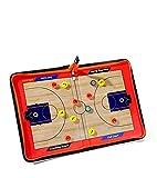 Zxjoy Basketball Coach tactique de Coaching magnétique Stratégie bloc-notes Sac à fermeture Éclair avec écriture effaçable à 2en 1stylo, Red