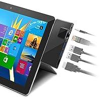 قاعدة قاعدة قاعدة روكيتيك سيرفس جو، محول USB C HDMI 5 في 1 من النوع C مع إيثرنت RJ45 1000M ، 4K USB C إلى HDMI، 2 منافذ USB 3.0، مخرج الصوت/الميكروفون (السماعة) لمايكروسوفت سيرفس جو (2018)