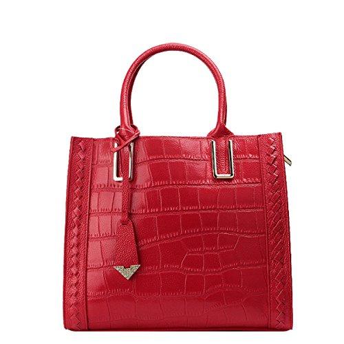 Borsa A Tracolla Coccodrillo Modello Moda Cross-bag Ladies Bag Multi-colore Red
