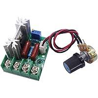 SCR regulador de voltaje Regulador eléctrica del módulo de bordo 2000W AC 50–220V, estabilizador de tensión de salida interruptor de transformador Temperatura/regulador de velocidad del motor Regulador, ideal para hacer pequeños manualidades del Fai Da Te