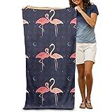 Flamingo Liebhaber Polyester/Nylon Strandtuch 80x 130cm