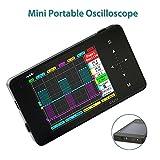 Elikliv Oscilloscope de Stockage Portable Nano Numérique Ecran Tactile 2 canaux 2MHz 10Mps Mini Test Mesurage électrique Taux d'échantillonnage Taille de la poche basé sur PC