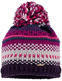 maximo Mädchen Mütze mit Pompon, Jacquard, Fleecfutter