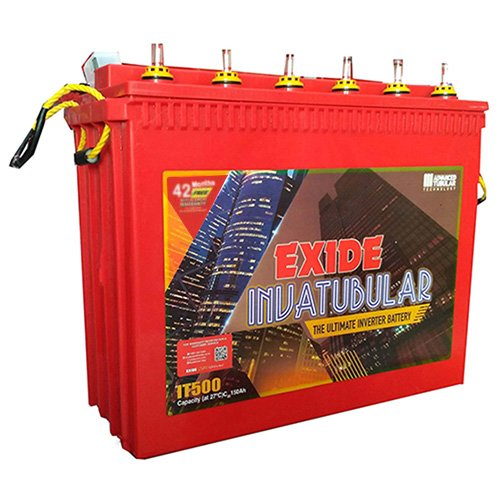 Exide Technologies Plastic Inva Tubular Tall IT500 150Ah Battery (Multicolour, DS-PM48-1NNL)
