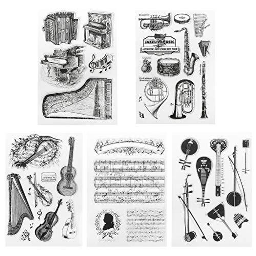 Lifet Klavier Briefmarke Transparente Silikonstempel Set Text Clear Stamps Stempel Mit Vielfalt-teilig Schneiden Schablonen