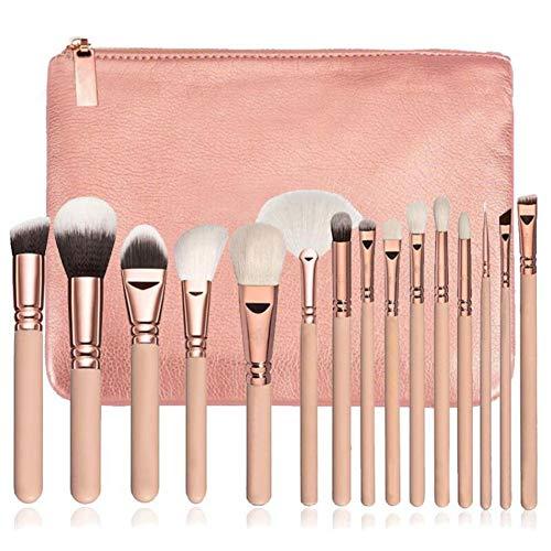 Make Up Pinsel Frauen Fashion15 Pcs Make-Up Pinsel Set Cosmetic Foundation Komplette Augen Kit Fall ()