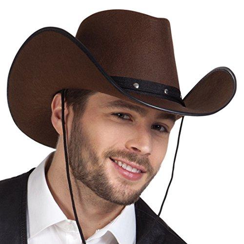 erdbeerloft - Western Hut Kostüm Kappe Cowboy, Braun