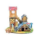 squarex 3D Pappboard Puzzle früh Lernen, bauliche Spielzeuge Kinder Geschenk Freiraum, Papier, Stil H, AS Show