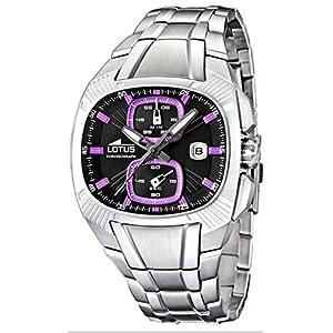 Lotus l15752–6–Reloj de Pulsera de Hombre, Correa de Acero Inoxidable Color Plata