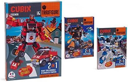 Globo 94 94 94 165,4 cm 3 Jouets Assortis Cubix Briques Robot avec Véhicule Ensemble de Construction | Un Prix Raisonnable  6ce57a