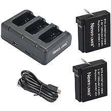 Newmowa 1200mAh Batería de repuesto (2-Pack) y Kit de Cargador para Mini USB portátil para Gopro AHDBT-401 and Gopro Hero 4 Camera