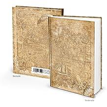 Cuaderno en DIN A5 Viejo Mundo nautisch Maritim con 136 vaciado páginas blancas o Hojas – En Blanco Libro Mundo de tarjeta globo terráqueo Tierra Diseño ...