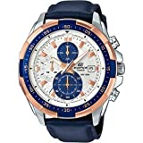 Casio Edifice for Men - Analog Leather Band Watch - EFR-539L-7CV