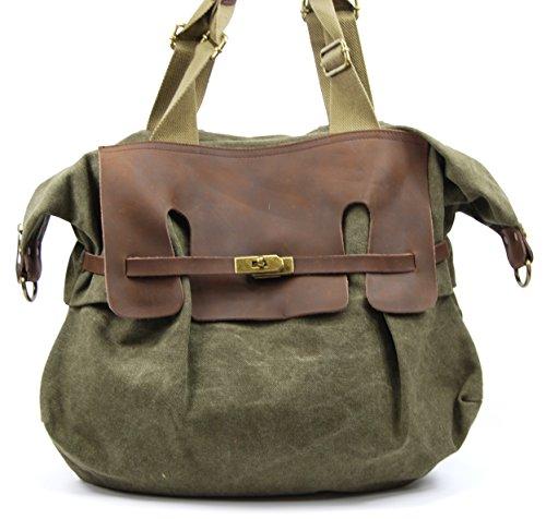 OH MY BAG Sac à main femme en CUIR et TOILE porté main, épaule et bandoulière Modèle VANUATU Nouvelle Collection - SOLDES