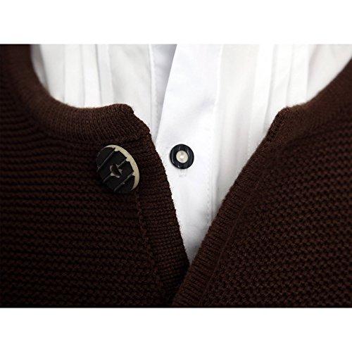 ALMBOCK Herren Strickjacke | Cardigan für Männer in dunkel-braun | Trachten Strickjacke | Größen S, M, L, XL, XXL, XXXL - 2