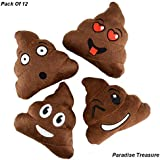 1 Dozen Emoji Poop Pillow Party Favors 12 Small Emoji Pillows (5 Inch) Variety Of Emoji Icon Super Cute Pillows For Birthday Parties, Great For Prizes,(Pack Of 12)(US Seller) By Paradise Treasures