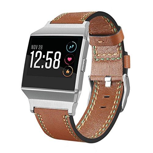 Armbanduhr Band für Fitbit Ionic, TopTen Fan-Motive Leder Einstellbare Sport Armbanduhr Armband Gurt, Ersatz Zubehör Armband für Fitbit Ionic Smartwatch