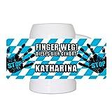 Lustiger Bierkrug mit Namen Katharina und schönem Motiv Finger weg! Dieses Bier gehört Katharina | Bier-Humpen | Bier-Seidel