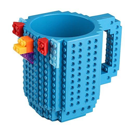 Kingnew Building Bricks Becher, DIY Spielzeug Build-On Brick Becher Kreative DIY Kaffeetasse Trinken...