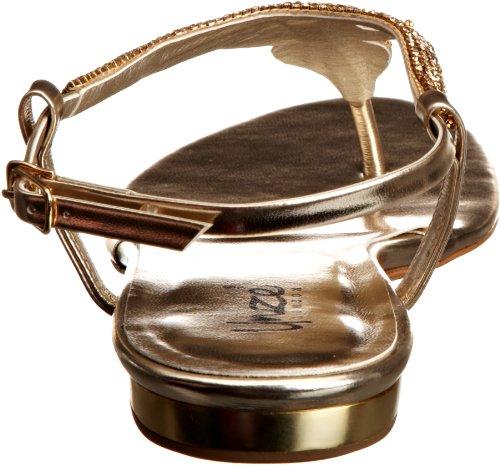 Unze Evening Sandals, Damen Sandalen Gold (L18495W)