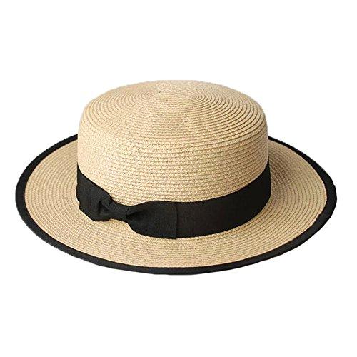 Sombrero Cordobés Verano Hombres Chicos Mujeres Paja Contraste Canotier  Sombrero de Sol-Color. 76348c46482