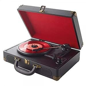 Platine vinyle rétro valise - encodeur MP3 USB - batterie rechargeable ou secteur