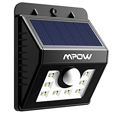LED Solar Motion Sensor Lights, Mpow? 3-in-1 Waterproof Solar Energy Powered Security Light Outdoor Bright Light Lamp with 3 Intelligient Modes for Garden, Outdoor, Fence, Patio, Deck, Yard, Home, Driveway, Stairs, Outside Wall etc.( 8 LED)