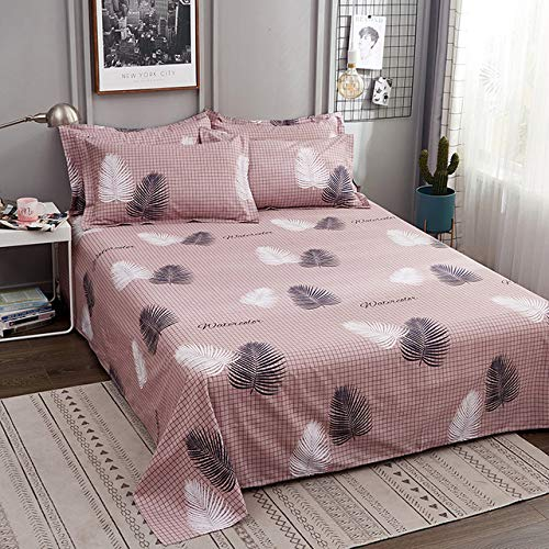 Hllhpc Nueva Caricatura Lovely White Rabbit Pink Plaid Plaid Sheet 1pc 100%...