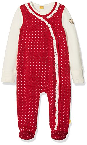 Steiff Baby-Mädchen Strampler 2tlg. Set o T-Shirt 1/1 Arm, Rot (Allover|Multicolored 0003) Preisvergleich