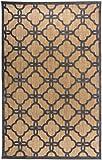 Carpetforyou Modern-klassischer flachgewebter In- & Outdoor Teppich Marocco marokkanisch braun/beige grau in 4 Größen für Wohnzimmer oder Terrasse (115 x 170 cm)