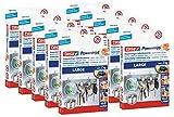 10er Pack tesa Powerstrips Strips LARGE für max. 2kg, 10 Packungen mit je 10 Strips