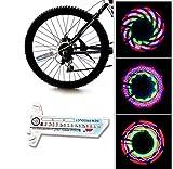 32 LED Luces para Rueda de Bicicletas Impermeables,Electro-Weideworld Luces Impermeables para Bicicleta con 32 imgenes diferentes