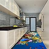 Weaeo Hd Unterwasserwelt Delphin Bodenbelag Tapete Büro Lobby Gehweg Wasserdicht Boden Wandbild-200X140Cm