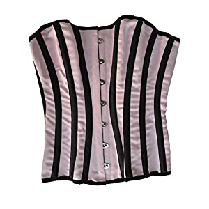 El celibato 53026341.053M -Burlesque barroca Ramillete raya - Cordón detrás M 40/42, rosa/negro