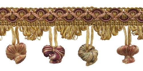 5Yard Value Pack Cherry Rot, Beige, Grün 5,1cm Imperial II Zwiebel Quaste Fransen Stil # nt2503Farbe: berry Patch-4260(15ft) -