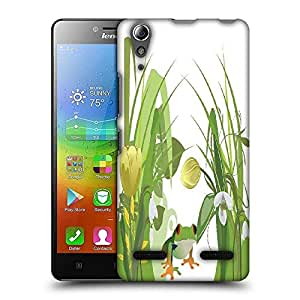 Snoogg abstract illustration with lots of beautiful flowers Designer Protective Back Case Cover For Lenovo A6010