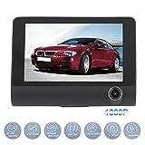 CricTeQleap 4,0 Zoll Dual Lens Auto Dash Cam DVR Video Recorder Unterst¨¹Tzung Visual - Schwarz