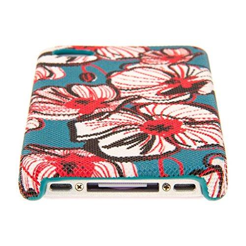 EMPIRE Signature Serie Slim-Fit Schutzhülle für Apple iPhone 4/4S _ P Bold Teal Floral